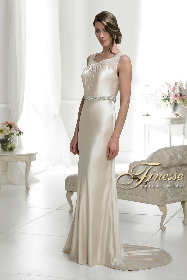 Figure Hugging Slinky Bridal Dress from Finesse Bridal Wear in Listowel, Co Kerry #SlinkyWeddingDress