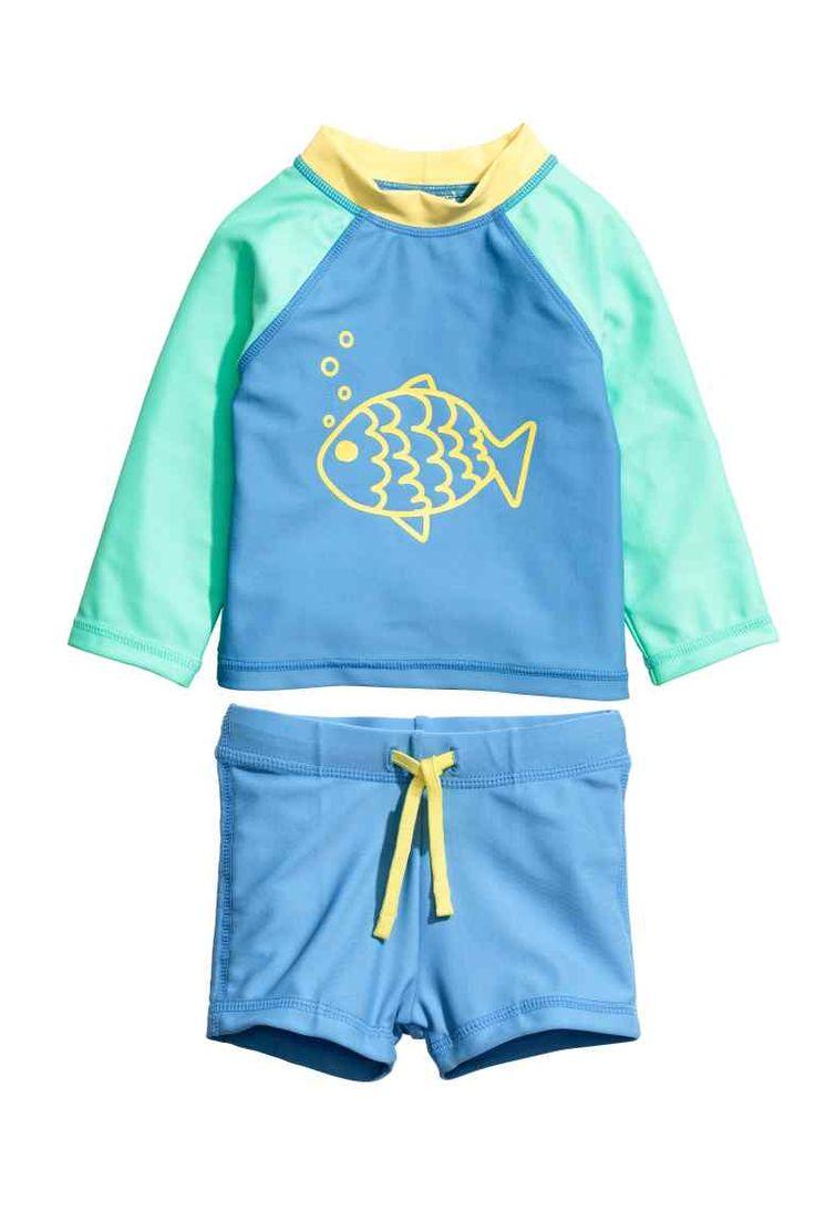 Kostium kąpielowy UPF50 - Blue/Fish - Dziecko | H&M PL 1