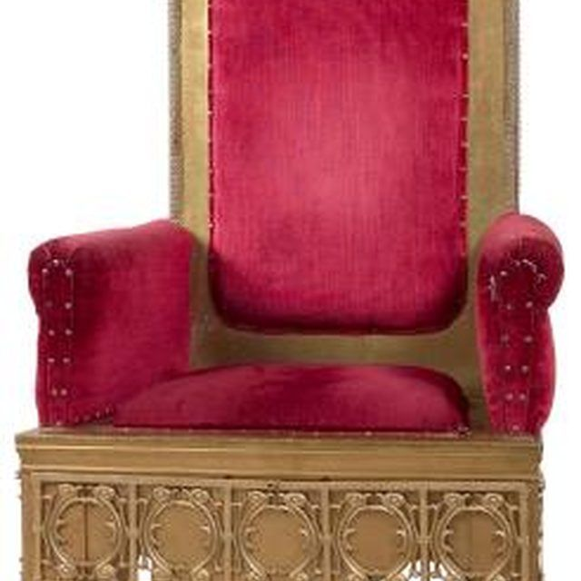 A king's throne provides a majestic place for your child to reign over his imaginary kingdom.