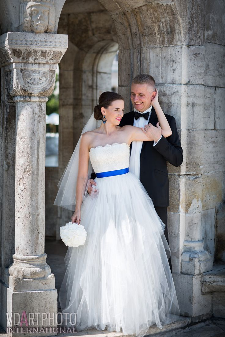Tünde was wearing this stunning tulle princesse wedding dress on her big day
