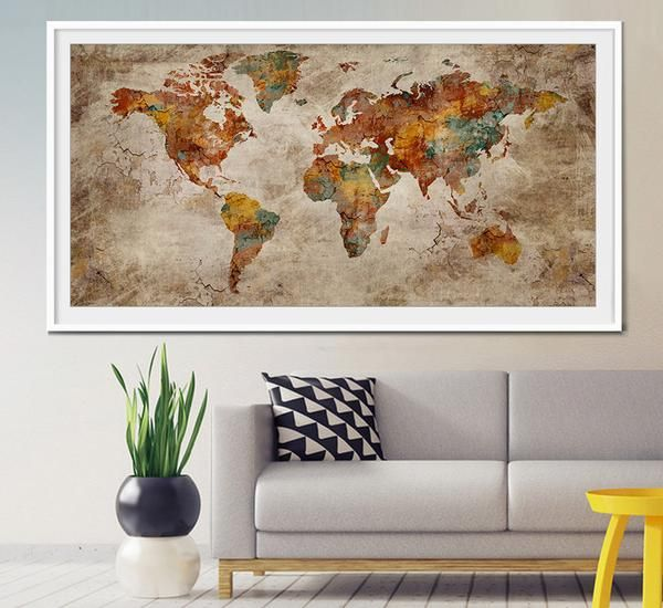 Mejores 20 imgenes de extra large wall art world map en pinterest world map art print large wall art world map art extra large world map gumiabroncs Images