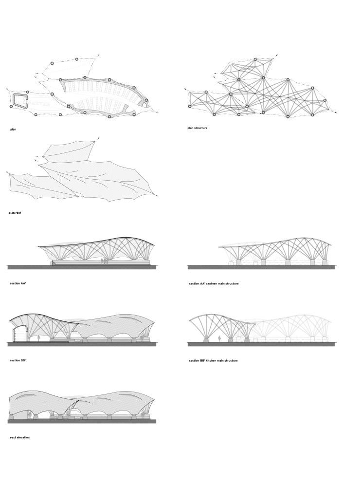 structural line drawings