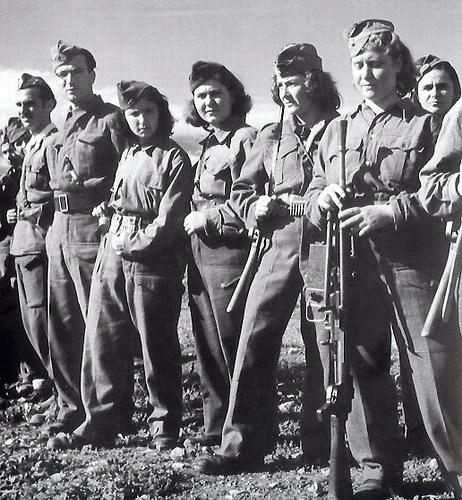 Greece 1945. Fighters of People's Democratic Army.   By photo-journalist Dmitri Kessel.