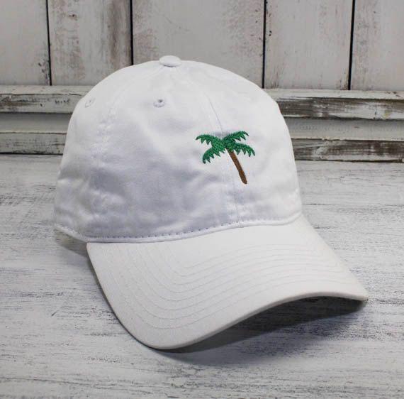 Palm Tree Emoji Dad Hat Embroidered Baseball Cap Curved Bill