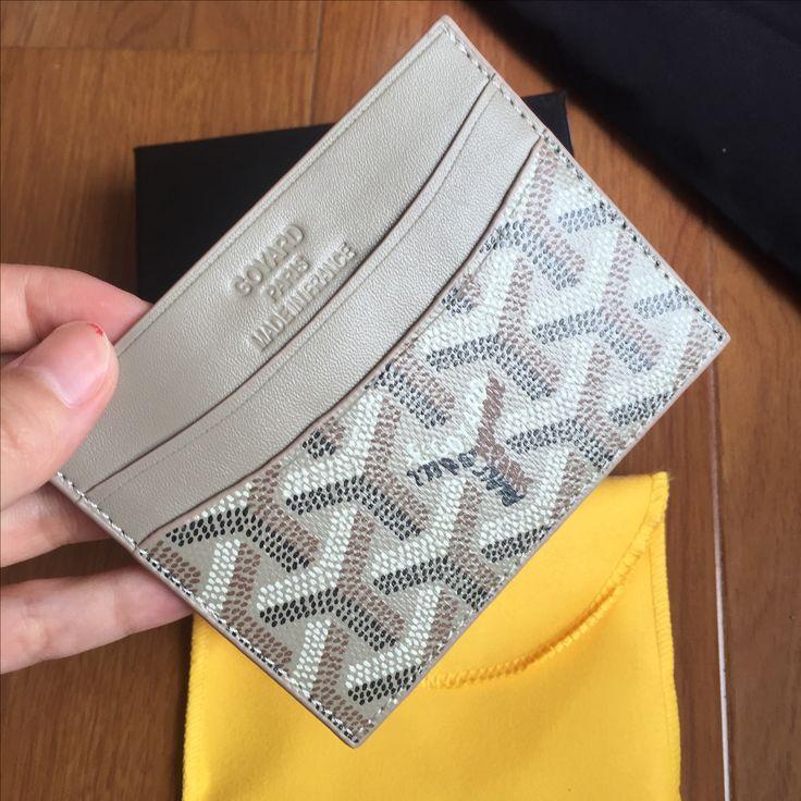 Goyard card holder gray