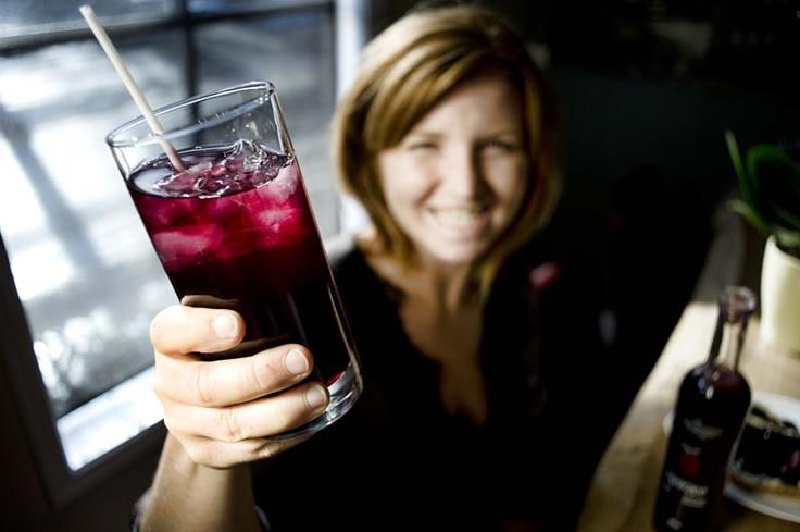 Cheers!!  with haskapa Haskap juice!