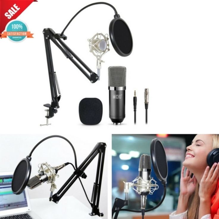 Live Podcast Microphone Studio Recording Kit Condenser Stand Podcasting Computer #Tonor