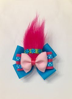 Princess Poppy Troll Hair Bow by CharlieKnowsHairBows on Etsy