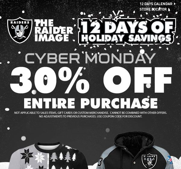 The Raider Image Cyber Monday 30% Off