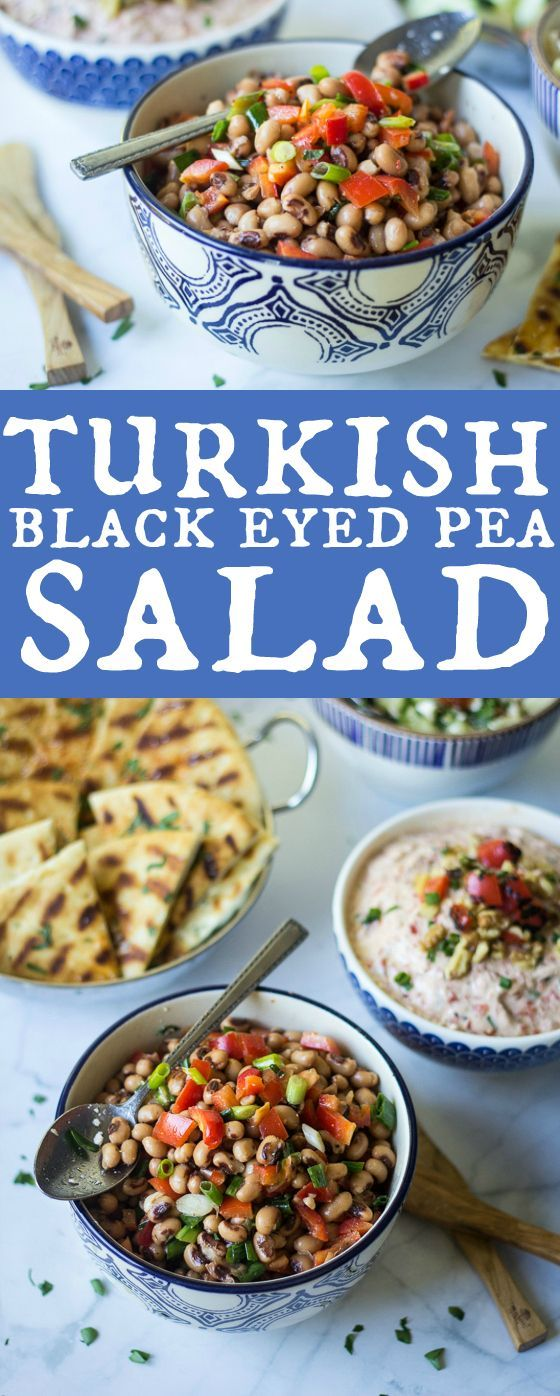 Turkish Black Eyed Pea Salad: Simple mezes can make up an entire meal in Turkey - enjoy a sampling with bread wine and friends!
