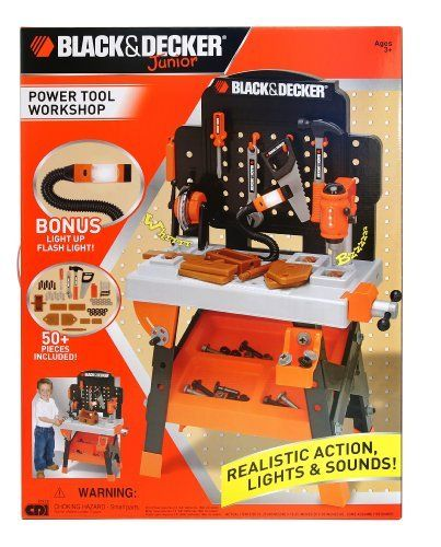 black and decker junior power tool workshop instruction manual