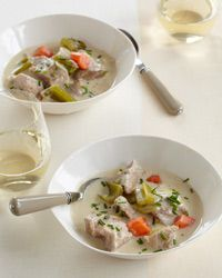 Blanquette de Veau Recipe on Food & Wine Chef Way Chef Daniel Boulud prepares this classic, creamy veal stew with veal stock, sometimes adding sweetbreads and finishing the dish with shavings of black truffle.