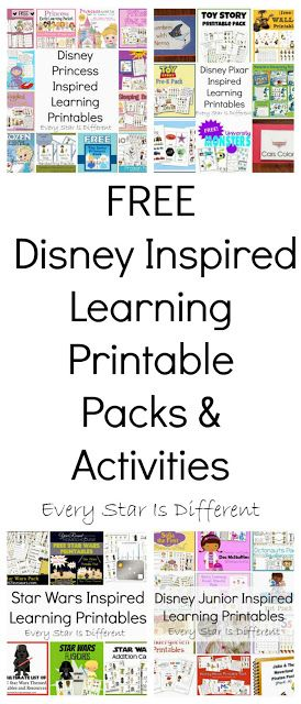 Every Star Is Different: FREE Disney Inspired Learning Printable Packs & Activities