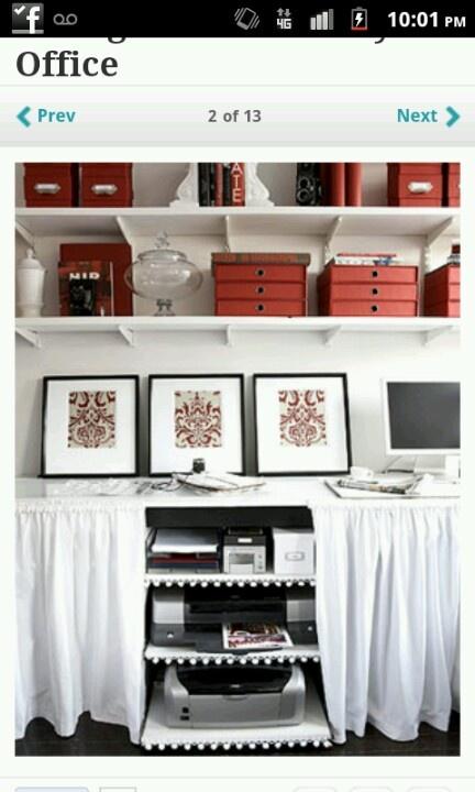 26 besten drucker verstauen bilder auf pinterest home office schreibtische und b ros. Black Bedroom Furniture Sets. Home Design Ideas