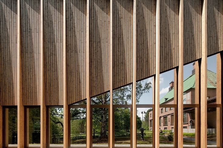 Gösta+Serlachius+Museum+/+MX_SI  vertical louver  fins mirror glass