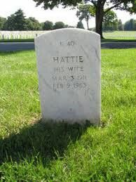 Hattie Carroll, buried at Baltimore National Cemetery, Baltimore city, Md
