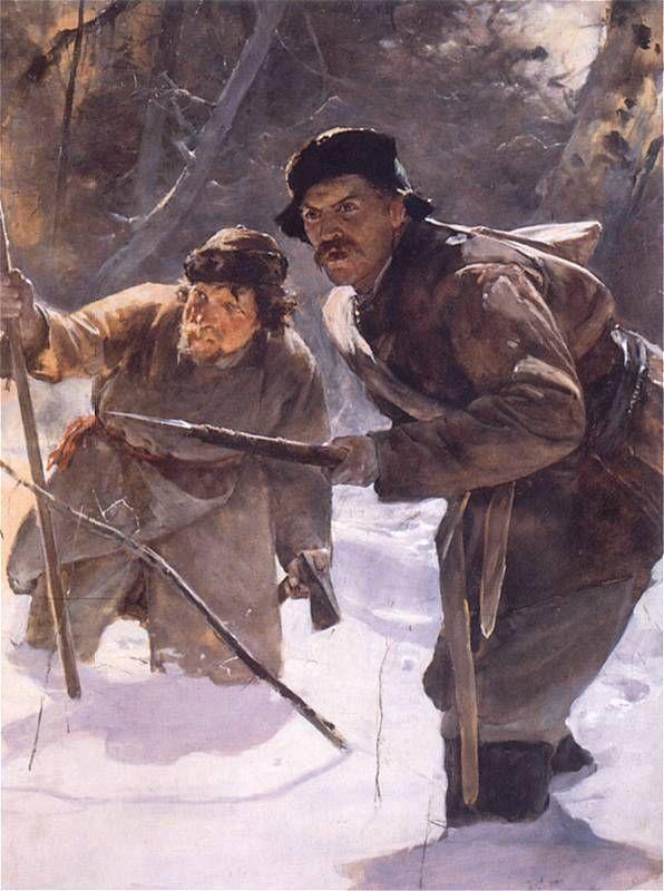 С началом охоты принц Вильгельм занял предназначенную для него позицию. Слева и справа от него расположились князья Антоний и Матей Радзивиллы.