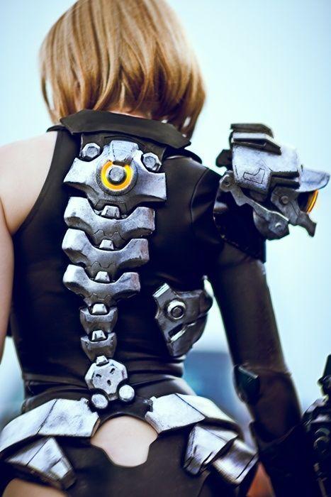 Firefall, Mourningstar II, crystalcosfx, futuristic girl, future fashion, military, armor, cosplay girl, geek girl, back, future, futuristic by FuturisticNews.com