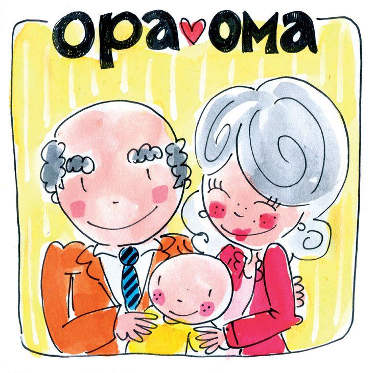 blond opa en oma