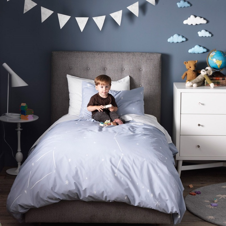 DwellStudio Kids Bedding Galaxy Dusk Duvet Set