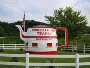 The World's Largest Teapot, located in Chester, WV