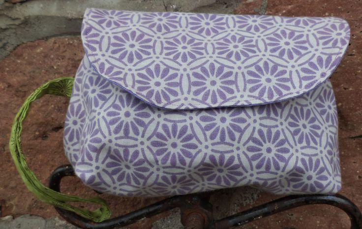 Purple Flower Power Clutch
