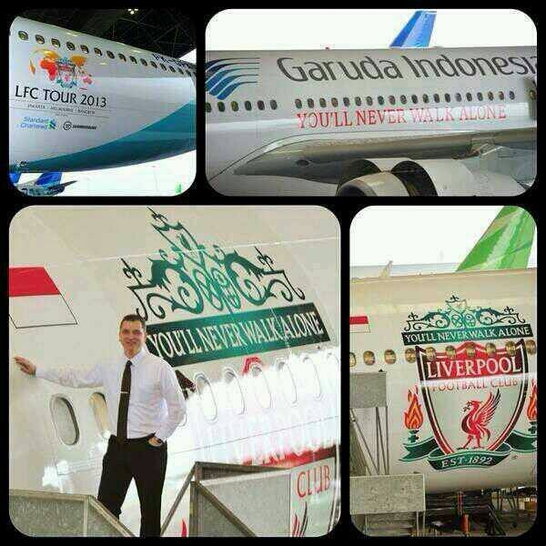 How proud are u with #GarudaIndonesia? The plane that would bring Our beloved Football Club to Jakarta. #proudIndonesia