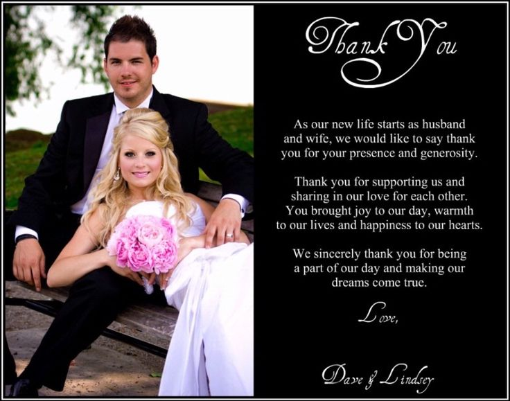Best 25 Wedding thank you wording ideas – Wedding Card Thank You Sayings
