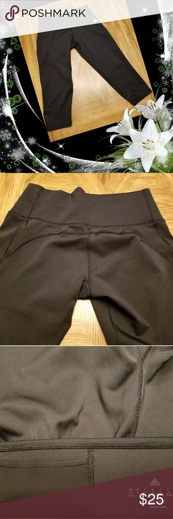 """Women's Black Adidas """"Climate Control"""" Capri👟 Women's Black Adidas """"Climate Control"""" Capri Active Wear. Sleek Inside Pocket!!  Soft/ Wide Elastic Waist.  Durable, Breathable Easy Wash. Front And Back Graphics. UPF 50+ UV PROTECTION Compression Fit70% Recycled Polyester / 19% Polyester / 11% Elastane Interlock. Climalite® Fabric Sweeps Sweat Away  From Your Skin. Made In Thailand. I Will Ship Same Day Or Next Business Day📮📦📬 adidas Pants Track Pants & Joggers"""