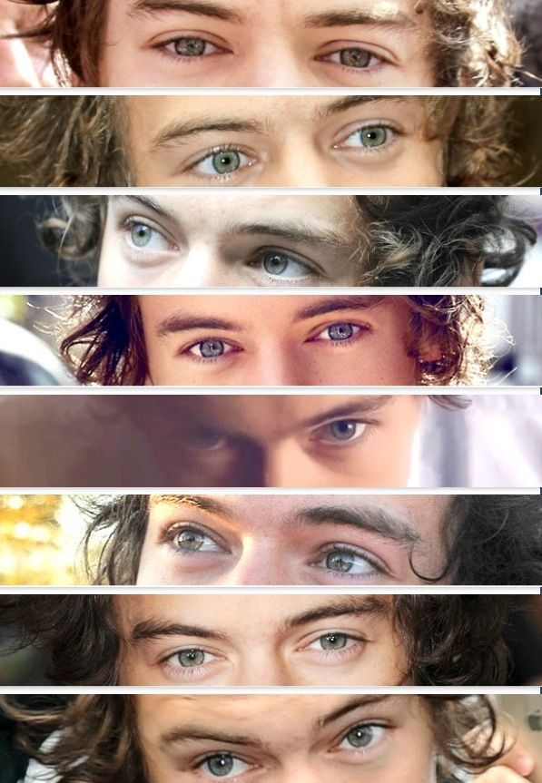 Harry Styles' gorgeous and beautiful green eyes