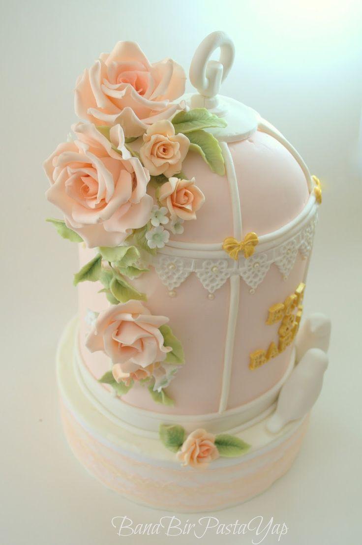 Bana Bir Pasta Yap BUTİK PASTA TASARIMI ANKARA: Kuş Kafesi Nişan Pastası