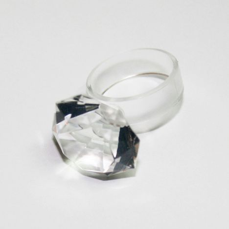 Twenty carats!!!!!Clear silicone ring, available in three different sizes S,M,L - www.scicche.it