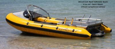 Wavebreak jet rigid inflatables boats RIB rigid hulled inflatable boat designed & manufactured by GP Engineering Nelson New Zealand