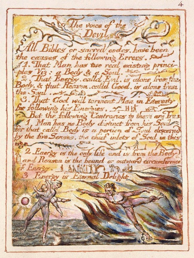 William Blake, The voice of the Devil, 1790-93