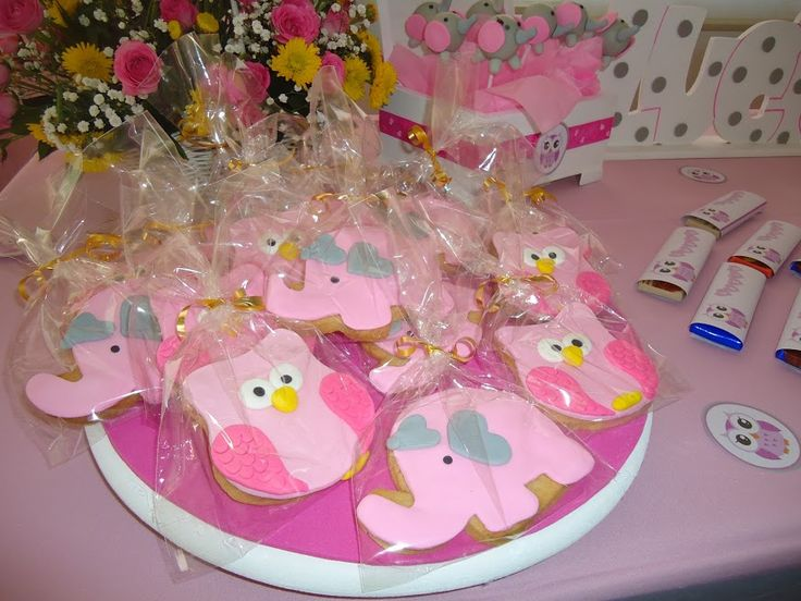decoracion fiesta baby shower, baby shower niña, baby shower buhos