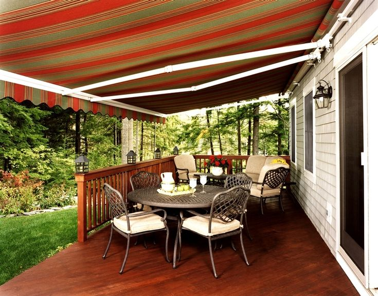 Awning defining outdoor dining
