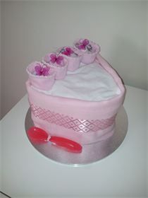 Unique Baby Gifts Baby Nappy Cake- Nappy Slice of Cake