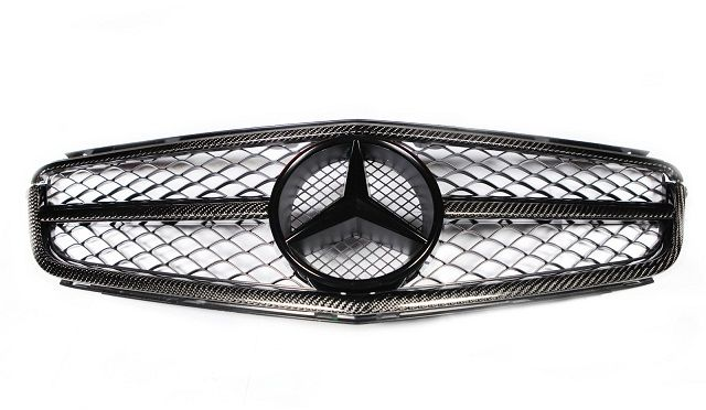 RevoZport Carbon Front Grille for C63 (Face-lifted)