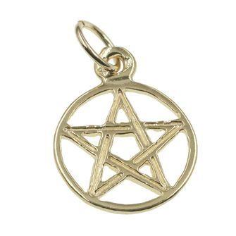 Pentagram in Circle Charm - chr-2044
