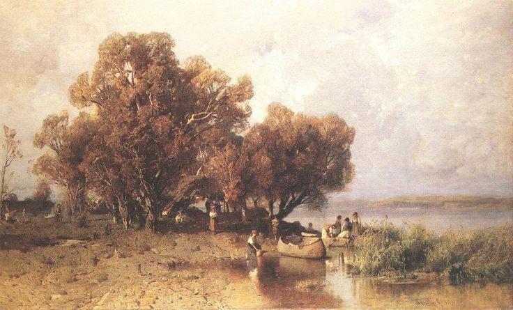 Mészöly Géza: Balatoni halásztanya 1877.