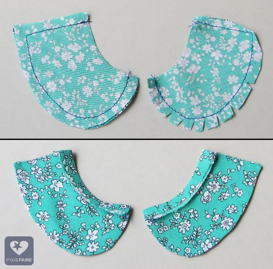 How to make and add a basic collar peter pans liberty for Peter pan shirt pattern