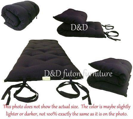 D&D Futon Furniture Full-Size Traditional Japanese Floor Futon Mattresses, Black