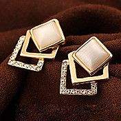 Opals Cube Shape Alloy Earrings – GBP £ 3.29