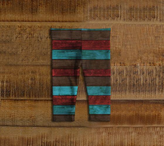 """#ArtOfWhere Baby+leggings+""""Bois+coloré""""+by+Marosée+Créations"""