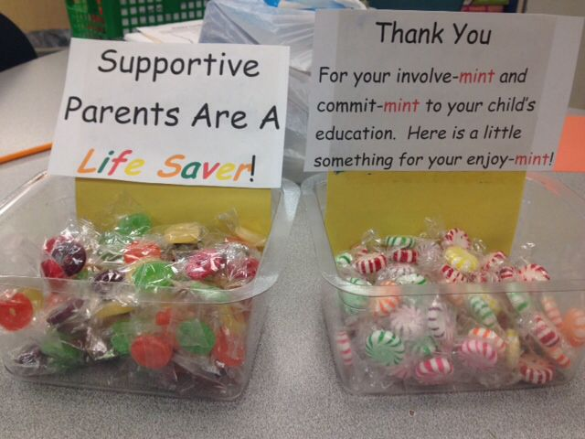 Open House treats for the parents