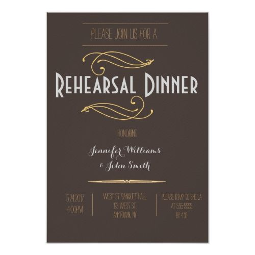 Vintage Rustic Rehearsal Dinner Invitations