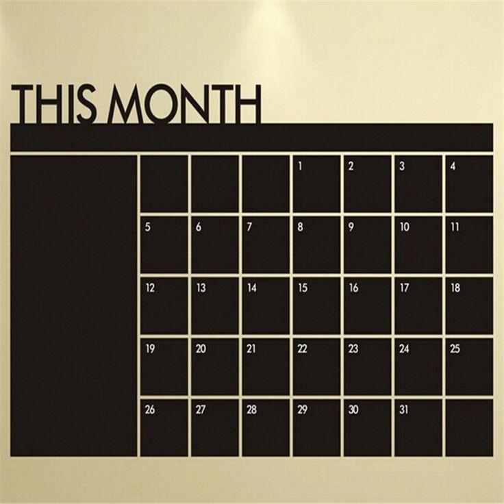 Diy月間計画黒板チョーク耐久性粘着ビニール黒板壁のステッカーシート23.6 × 37.4インチ(60*95センチ)書き込み黒板signs