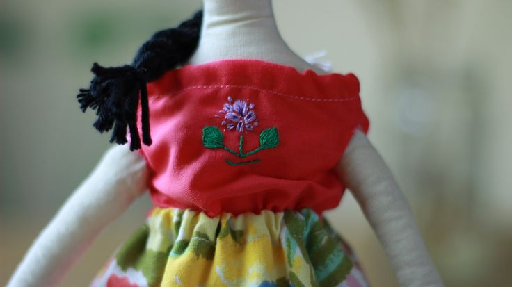 Detalle blusa bordada con Aguapé