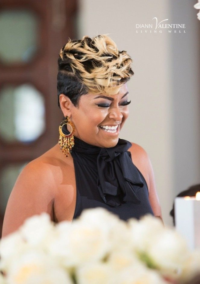 The beautiful April Daniels at Diann Valentine's New Years Brunch in Miami! - 2574 Best STYLES COIFFURES Images On Pinterest Short Hair Styles