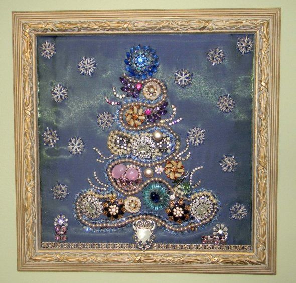 How To Make A Costume Jewelry Christmas Tree Part - 22: Christmas Comes Around Only Once A Year, But Making Christmas Jewelry Trees  Can Be Made All Year Long.